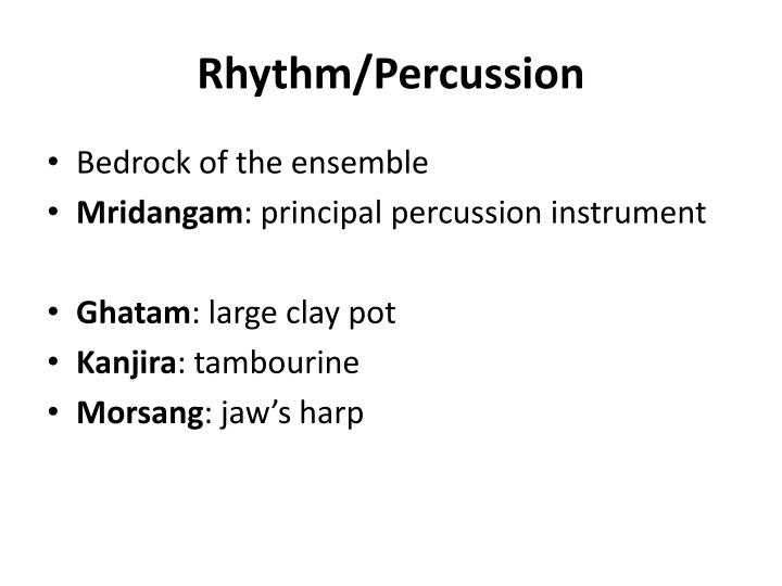 Rhythm/Percussion