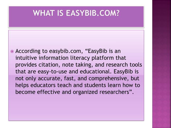 What is easybib.com?