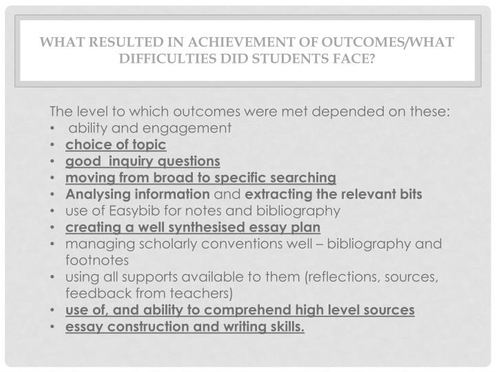 difficulties students face in essay writing Challenges faced by first year students essay the most common challenges that students will face are not only deadline for pre-writing.