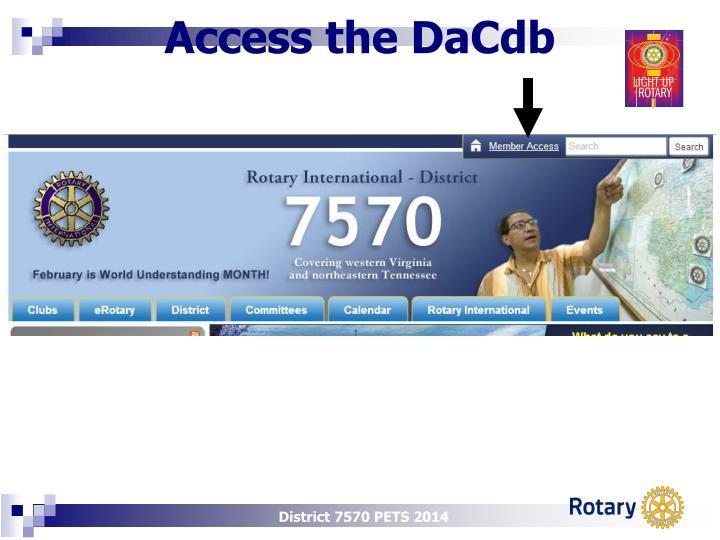 Access the DaCdb