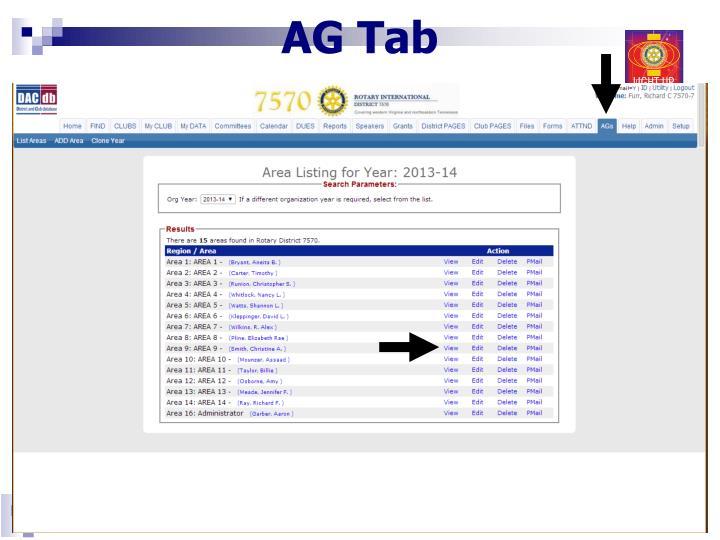 AG Tab
