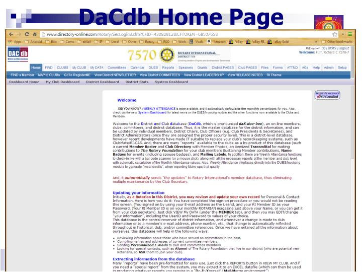DaCdb Home Page