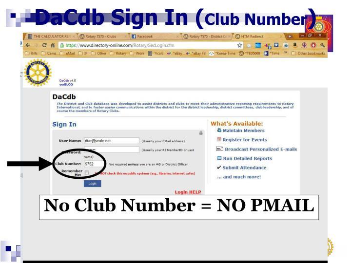 DaCdb Sign In (