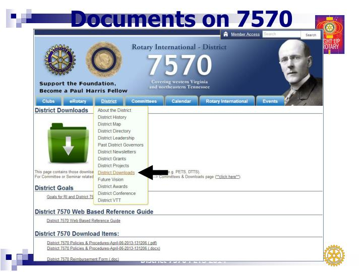 Documents on 7570