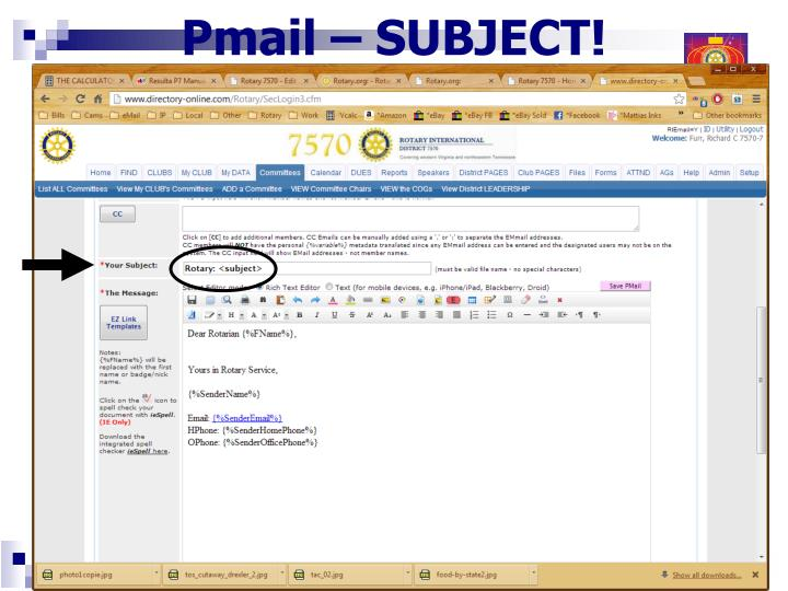 Pmail – SUBJECT!