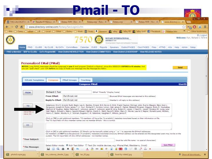 Pmail - TO