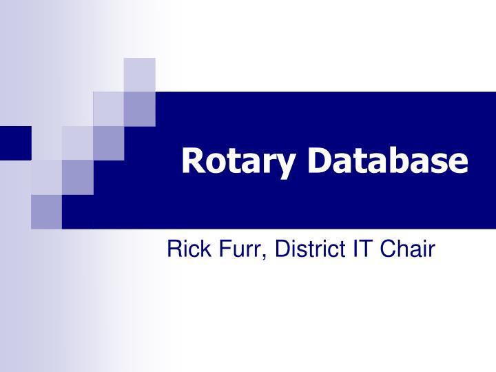 Rotary Database