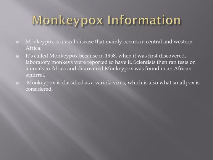 Monkeypox Information