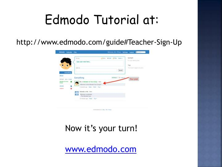 Edmodo Tutorial at: