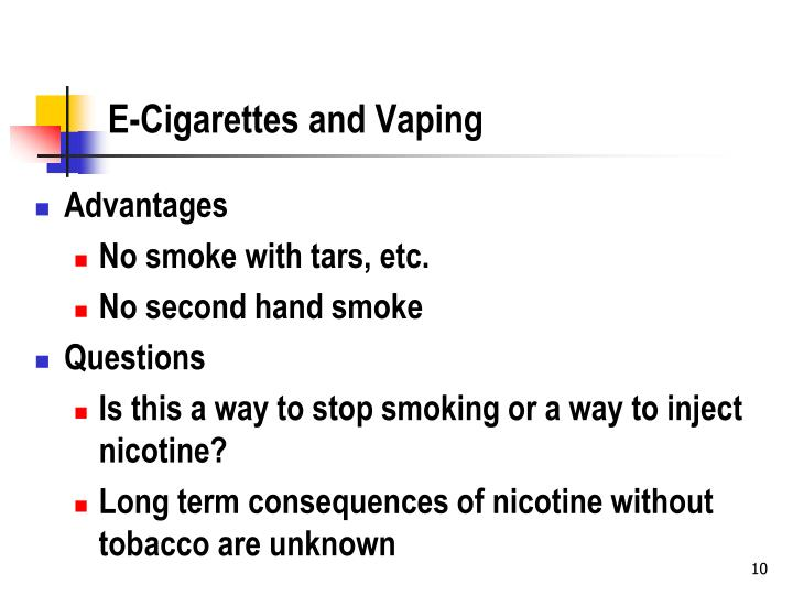E-Cigarettes and