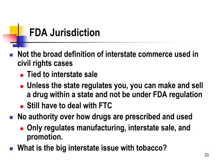 FDA Jurisdiction