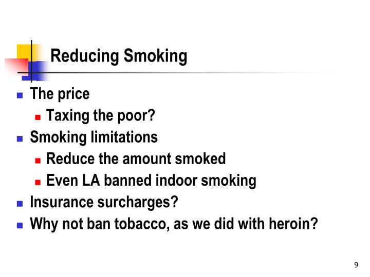 Reducing Smoking