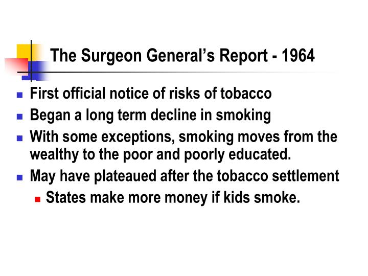 The Surgeon General's Report - 1964