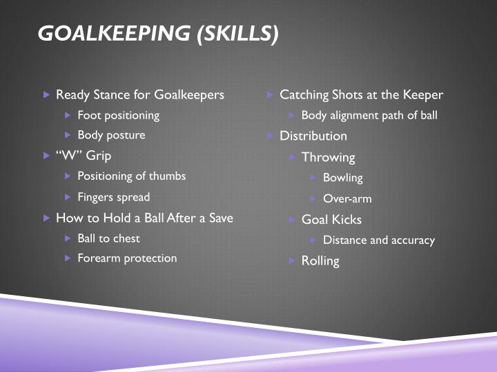 Goalkeeping (skills)