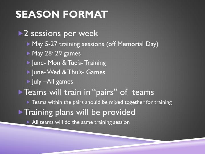 season format