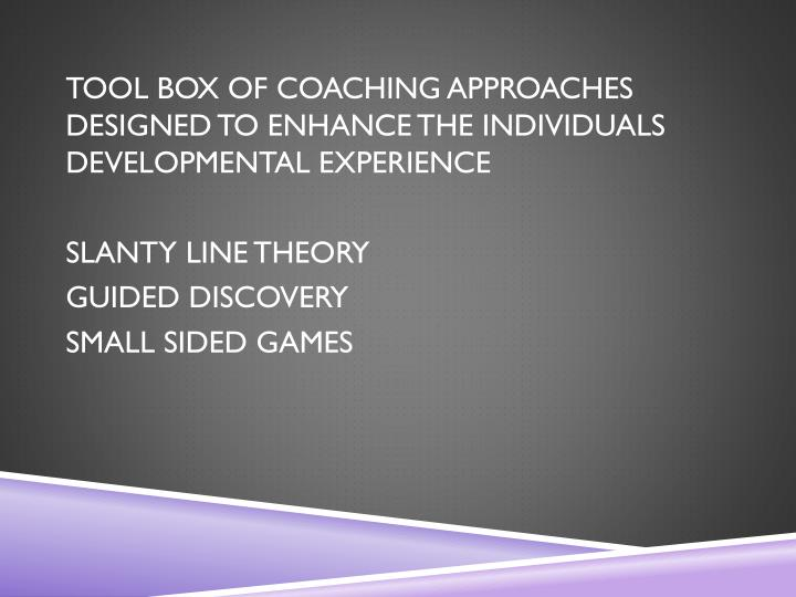 TOOL BOX OF COACHING