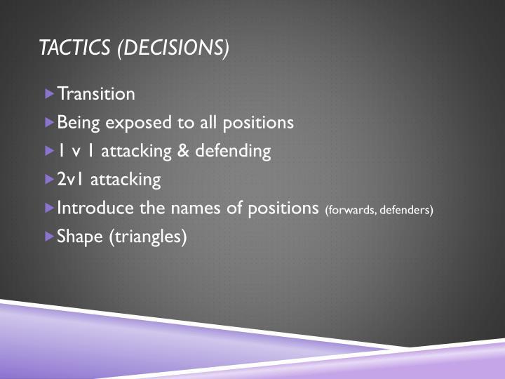 Tactics (
