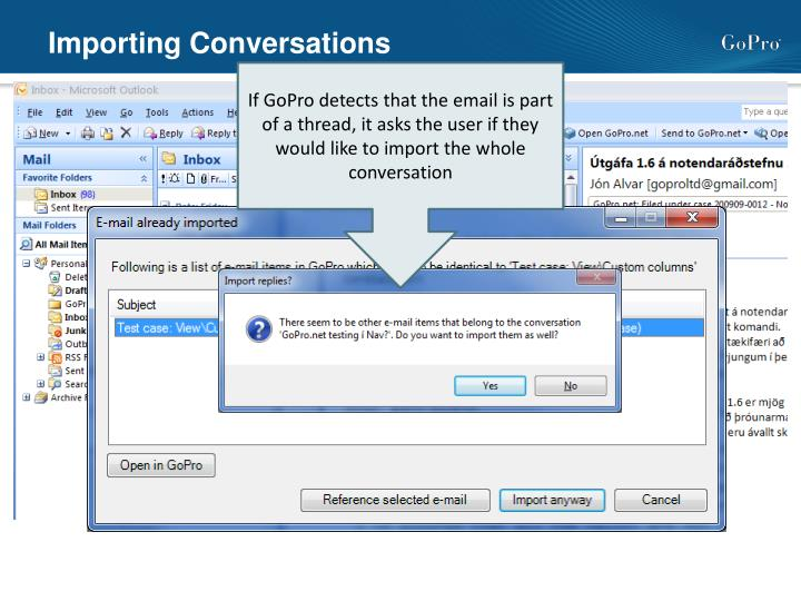 Importing Conversations