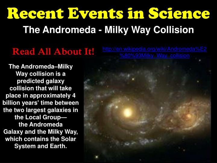 Recent Events in Science