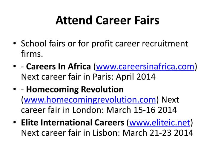 Attend Career Fairs