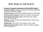 best ways to job search