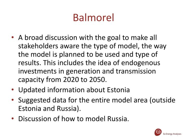 Balmorel