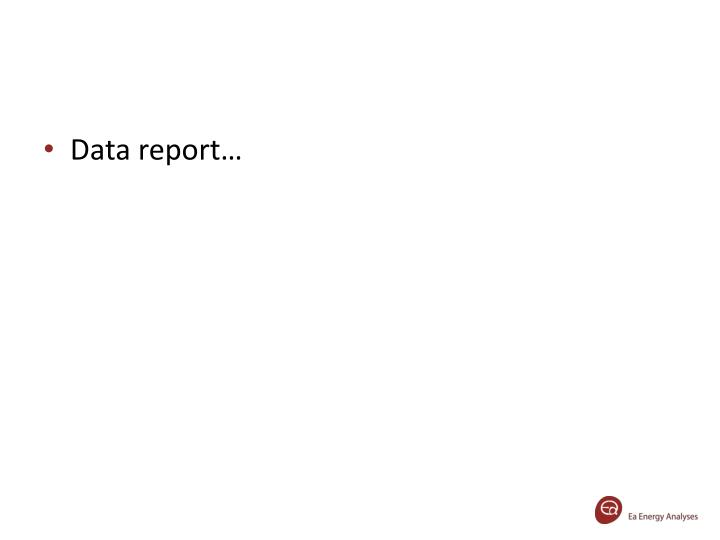 Data report…