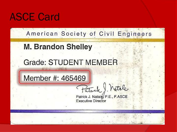 ASCE Card