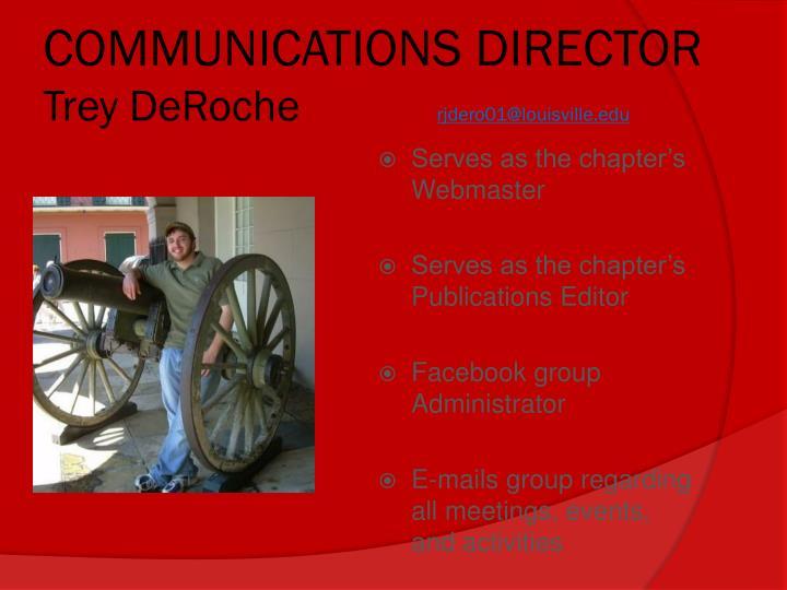 COMMUNICATIONS DIRECTOR