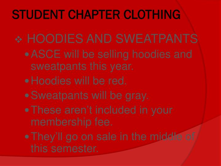 STUDENT CHAPTER CLOTHING