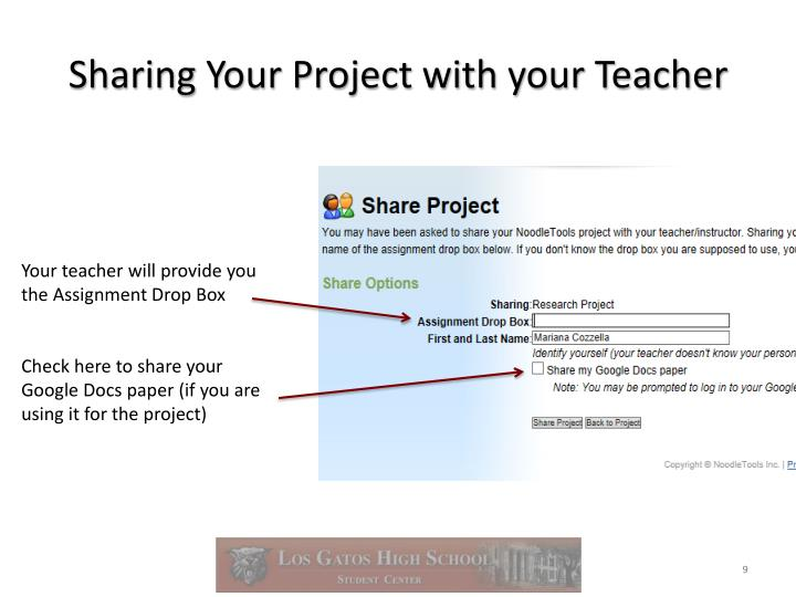 Sharing Your Project with your Teacher