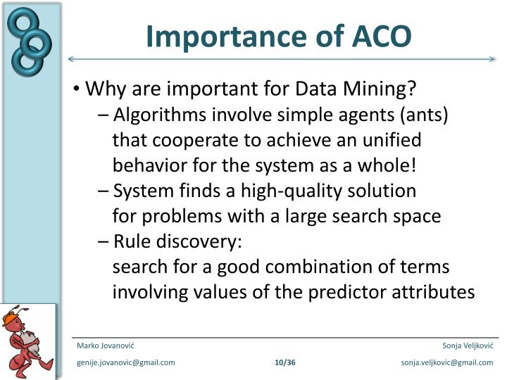 Importance of ACO