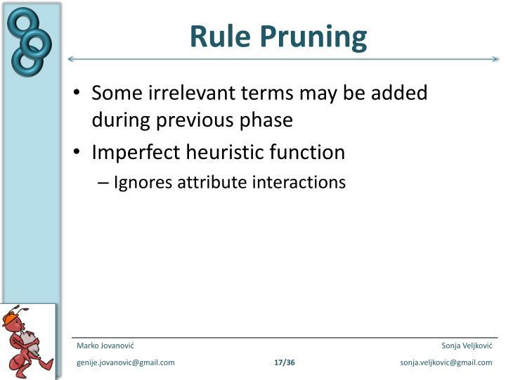 Rule Pruning