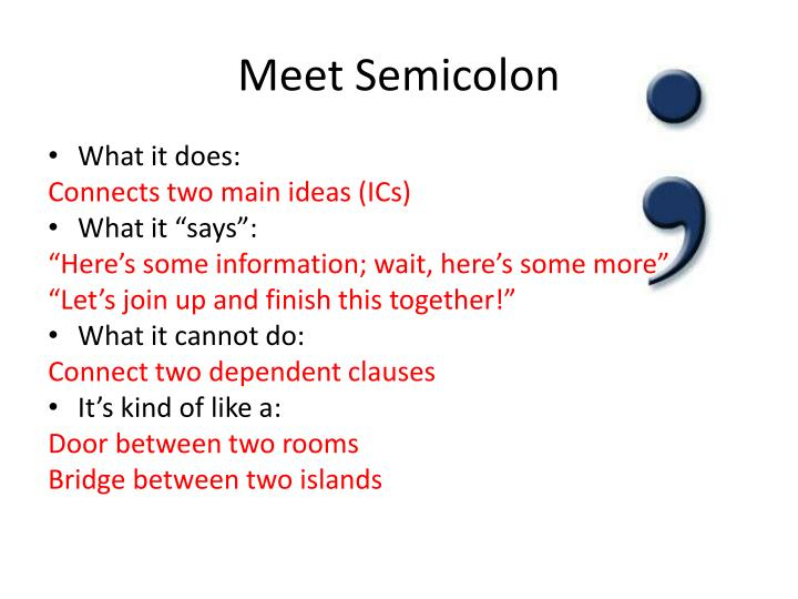 Meet Semicolon