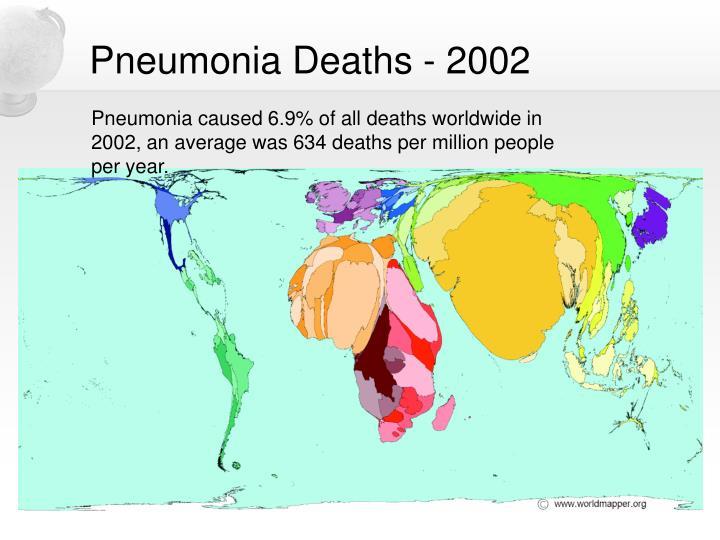 Pneumonia Deaths - 2002