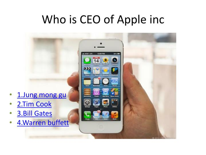 Who is CEO of Apple