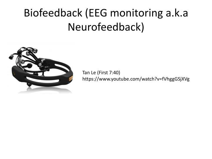 Biofeedback (EEG monitoring