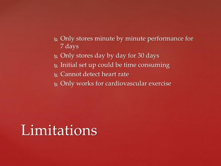 Only stores minute by minute performance for 7 days