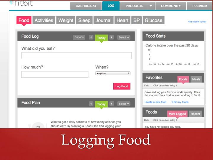 Logging Food