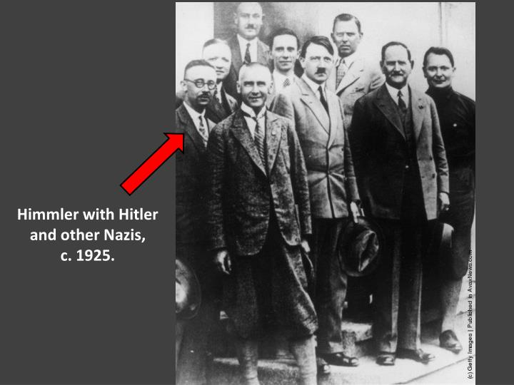Himmler with Hitler and other Nazis,