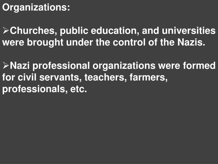 Organizations: