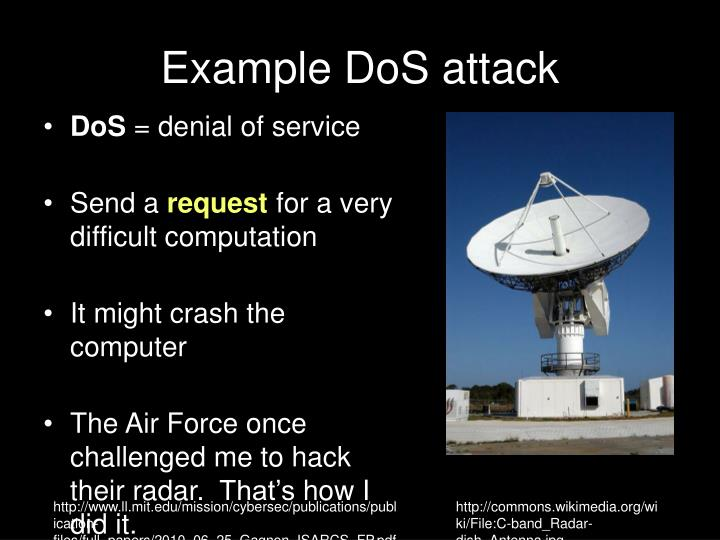 Example DoS attack