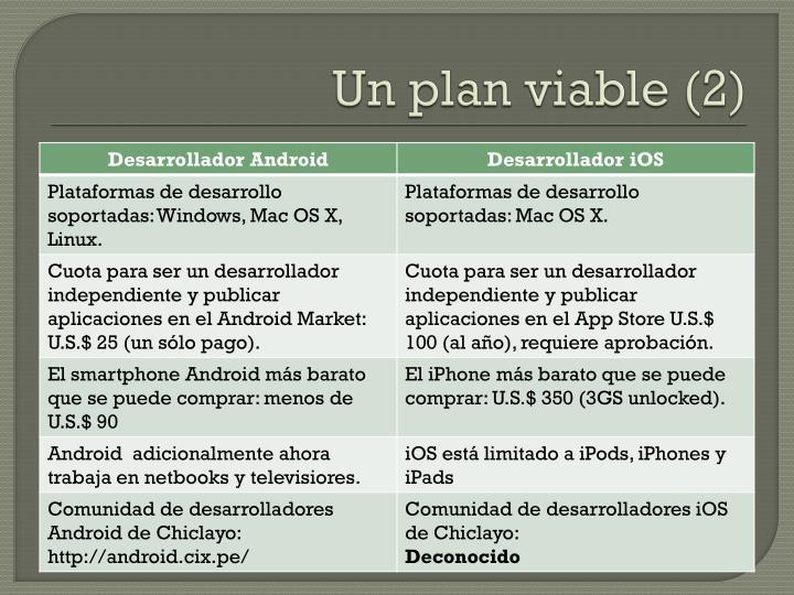 Un plan viable (2)