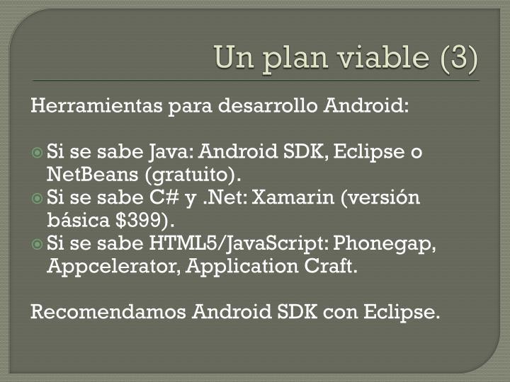 Un plan viable (3)