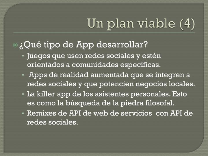Un plan viable (4)