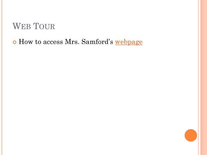 Web Tour