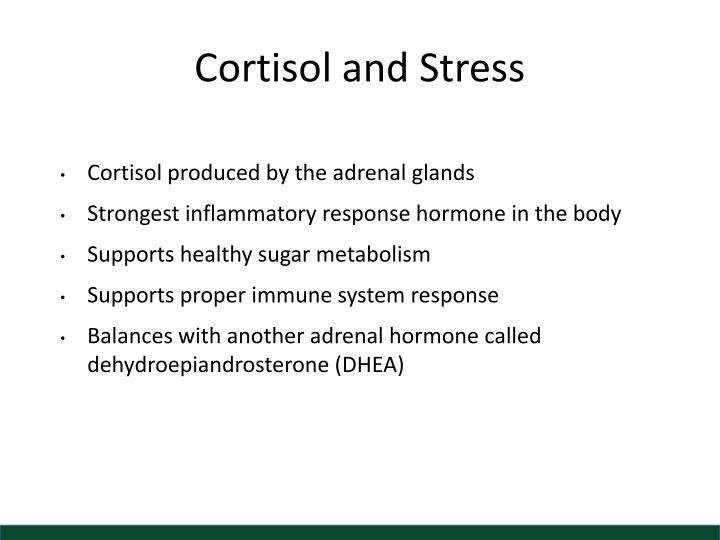 Cortisol and Stress