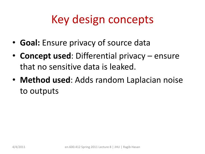 Key design concepts