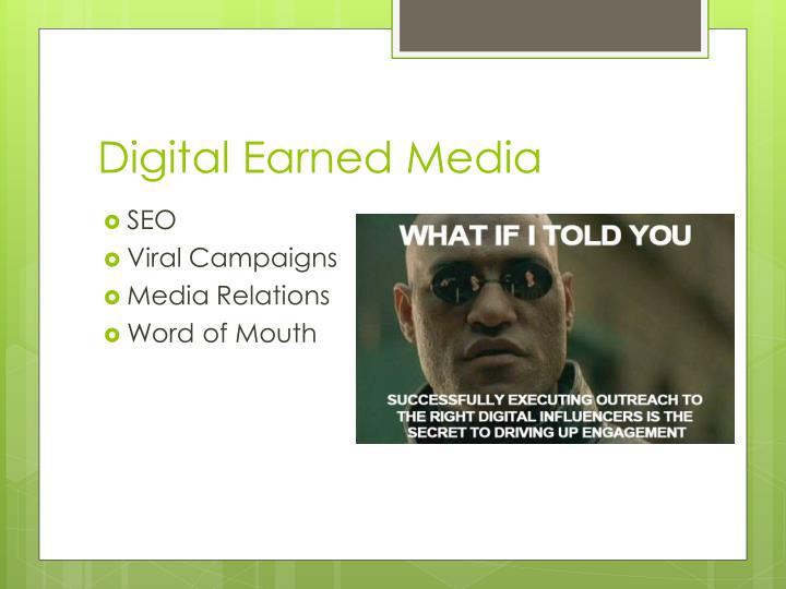 Digital Earned Media