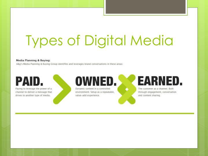 Types of Digital Media